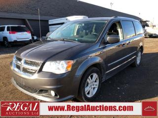 Used 2017 Dodge Grand Caravan Crew Wagon 3.6L for sale in Calgary, AB