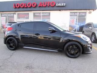 Used 2015 Hyundai Veloster Turbo 6 SPD MANUAL NAVIGATION CAMERA CERTIFIED for sale in Milton, ON