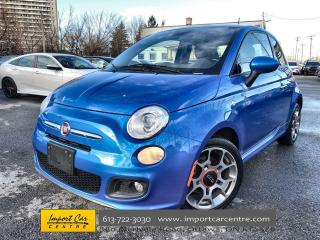 Used 2015 Fiat 500 Sport ALLOYS  CLOTH  PANO ROOF  5 SPEED for sale in Ottawa, ON