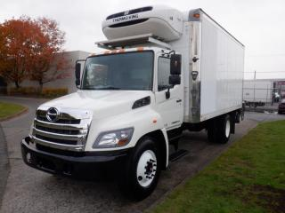 Used 2013 Hino 268 18 Foot Diesel Cube Van with Reefer and Power Tailgate for sale in Burnaby, BC
