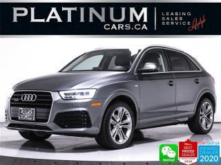 Used 2017 Audi Q3 2.0T quattro Technik, AWD, NAV, PANO, CAM, HEATED for sale in Toronto, ON