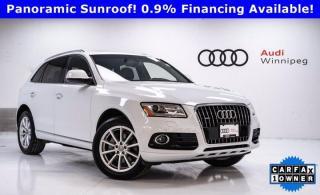 Used 2017 Audi Q5 3.0T Technik w/B&O and Navi *Local-Low KM* for sale in Winnipeg, MB