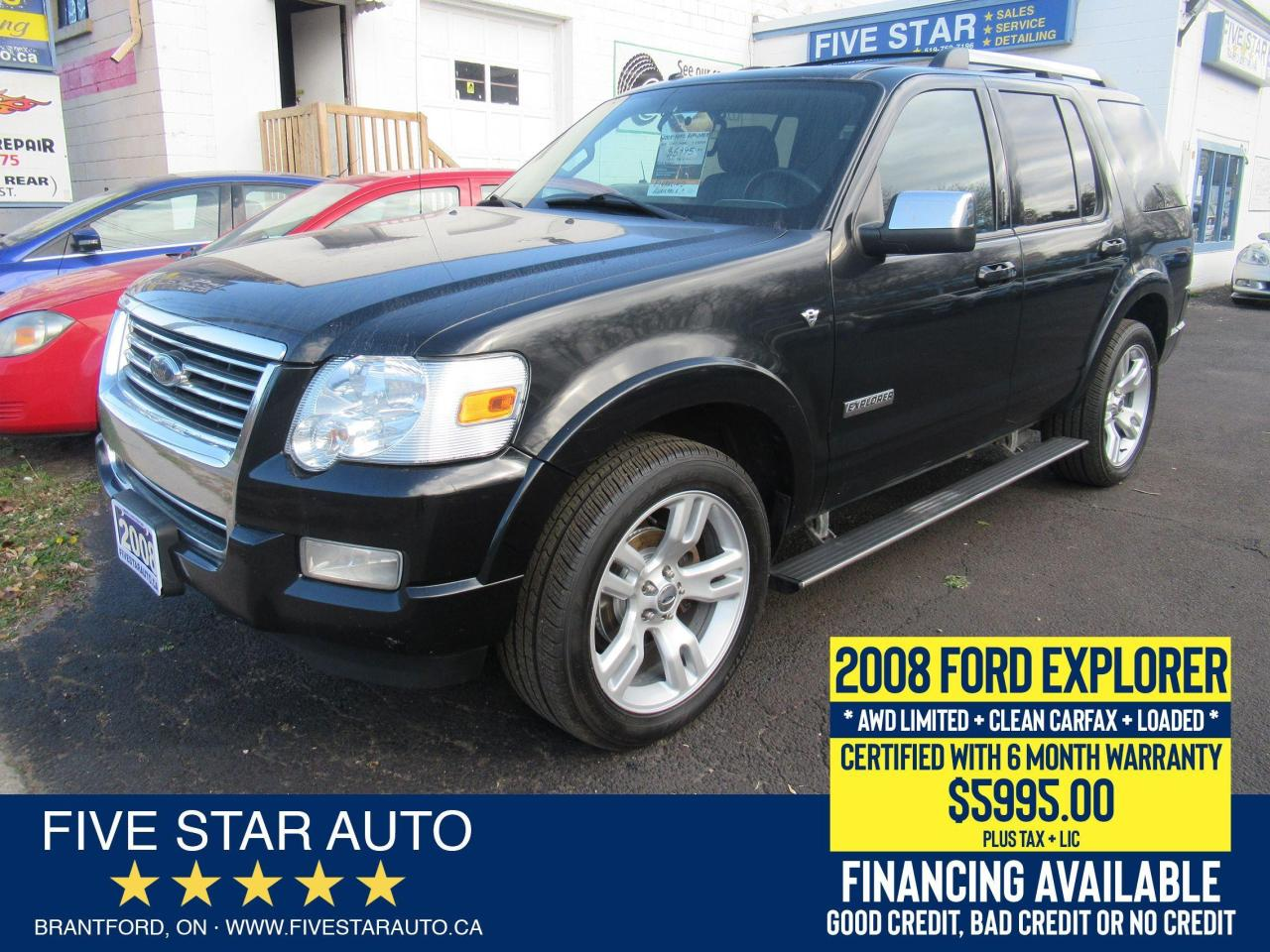 2008 Ford Explorer Limited *Clean Carfax* Certified + 6 Mth Warranty