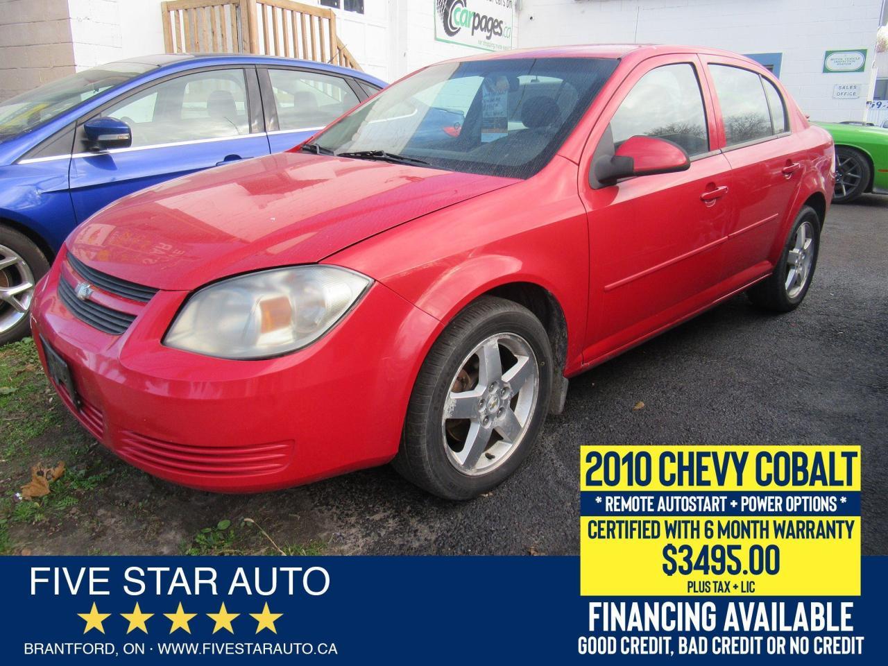 2010 Chevrolet Cobalt LT - Certified w/ 6 Month Warranty