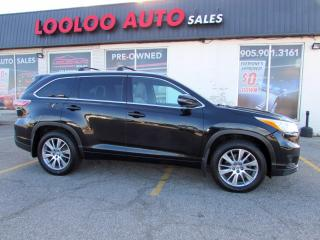 Used 2014 Toyota Highlander XLE AWD V6 Navigation Camera Leather Certified for sale in Milton, ON