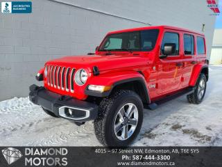 Used 2020 Jeep Wrangler Unlimited Sahara (FREE 1 YEAR WARRANTY) for sale in Edmonton, AB