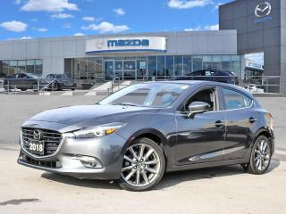 Used 2018 Mazda MAZDA3 GT- LEATHER, MOONROOF, BOSE, BLUETOOTH, REAR CAMERA for sale in Hamilton, ON