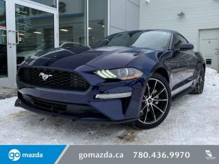 Used 2020 Ford Mustang EcoBoost - 2.3L, MANUAL, BLUETOOTH, BACK UP CAM for sale in Edmonton, AB