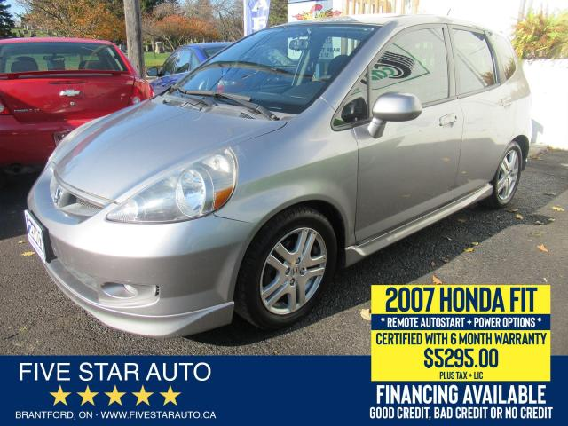 2007 Honda Fit Sport *NO ACCIDENTS* Certified w/ 6 Mth Warranty