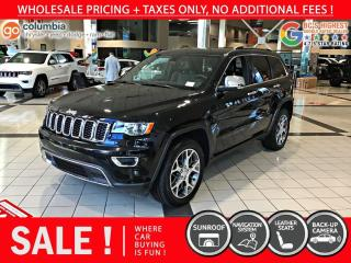 Used 2020 Jeep Grand Cherokee Limited - No Accident / Sunroof / Nav / No Dealer Fees for sale in Richmond, BC