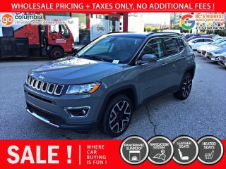 Used 2020 Jeep Compass Limited - Accident Free / Pano Sunroof / Nav for sale in Richmond, BC