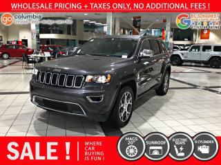 Used 2020 Jeep Grand Cherokee Limited - Accident Free / Nav / Sunroof / No Dealer Fees for sale in Richmond, BC