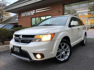 Used 2012 Dodge Journey AWD R/T Navi Heated Seats Rear Cam R.Starter Cert* for sale in Concord, ON