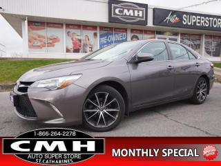 Used 2016 Toyota Camry SE  NAV CAM HTD-SEATS LEATH/CLOTH 18-AL for sale in St. Catharines, ON