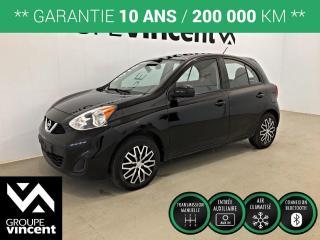 Used 2016 Nissan Micra SV CLIMATISEUR ** GARANTIE 10 ANS ** Véhicule parfait pour petit budget! for sale in Shawinigan, QC
