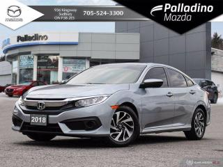 Used 2018 Honda Civic Sedan EX - HONDA SENSING SAFETY FEATURES - GREAT ON GAS for sale in Sudbury, ON