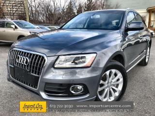 Used 2017 Audi Q5 2.0T Progressiv LEATHER  PANO ROOF  NAVI  HTD SEAT for sale in Ottawa, ON