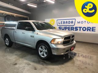 Used 2014 RAM 1500 SLT 4WD Quad Cab * 3.6L V6 * 6 Passenger *  Tonneau Cover * Line X Bed Liner * 98.4 L Fuel Tank * Towing Equipment -inc: Trailer Sway Control * Back U for sale in Cambridge, ON
