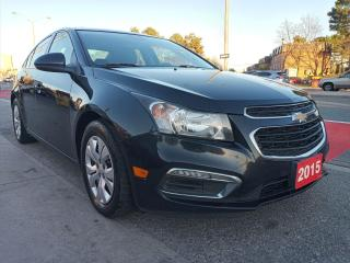Used 2015 Chevrolet Cruze 1LT-CLEAN REPORT-BK UP CAM-SUNROOF-4CYL-BLUETOOTH for sale in Scarborough, ON