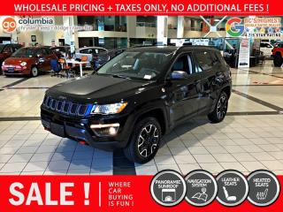 Used 2017 Jeep Compass Trailhawk - No Accident / Local / Nav / Pano Sunroof for sale in Richmond, BC