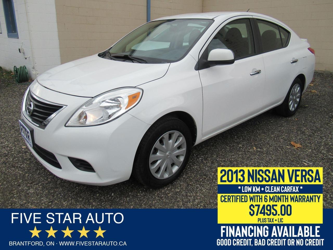 2013 Nissan Versa SV *Clean Carfax* Certified w/ 6 Month Warranty