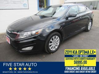 Used 2011 Kia Optima LX+ *One Owner* Certified w/ 6 Month Warranty for sale in Brantford, ON