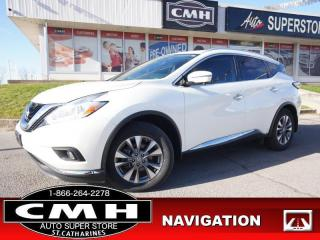 Used 2017 Nissan Murano SL  AWD NAV CAM PANO LEATH HTD-SEATS P/GATE for sale in St. Catharines, ON
