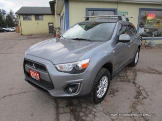 Used 2015 Mitsubishi RVR POWER EQUIPPED SE EDITION 5 PASSENGER 2.0L - DOHC.. RHINO-RACKS.. CD/USB INPUT.. KEYLESS ENTRY.. BLUETOOTH SYSTEM.. for sale in Bradford, ON