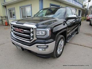 Used 2016 GMC Sierra 1500 LOADED SLT-Z71 MODEL 5 PASSENGER 5.3L - VORTEC.. 4X4.. CREW-CAB.. SHORTY.. NAVIGATION.. LEATHER.. HEATED/AC SEATS.. TRAILER BRAKE.. BACK-UP CAMERA.. for sale in Bradford, ON