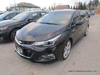 Used 2018 Chevrolet Cruze LOADED PREMIER EDITION 5 PASSENGER 1.4L - TURBO.. LEATHER.. HEATED SEATS.. POWER SUNROOF.. BACK-UP CAMERA.. BOSE AUDIO.. KEYLESS ENTRY & START.. for sale in Bradford, ON