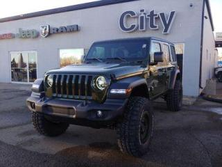 New 2021 Jeep Wrangler Unlimited Sport | Sarge | Wheels + tires + lift for sale in Medicine Hat, AB