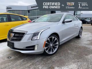 Used 2017 Cadillac ATS Coupe Luxury AWD | Suede Shifter & Suede Steering Wheel for sale in Winnipeg, MB
