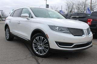 Used 2016 Lincoln MKX Reserve PRE-OWNED, ONE OWNER, NO ACCIDENTS! RESERVE EDITION !! AWD PANO ROOF NAVIGATION LEATHER for sale in Hamilton, ON