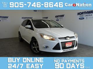 Used 2013 Ford Focus SE | HATCHBACK | LEATHER | SUNROOF | 5 SPEED M/T for sale in Brantford, ON