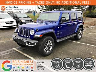 New 2020 Jeep Wrangler Unlimited Sahara for sale in Richmond, BC