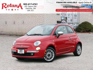Used 2013 Fiat 500 Lounge Convertible_Accident Free_PWR TOP_Low KMS for sale in Oakville, ON