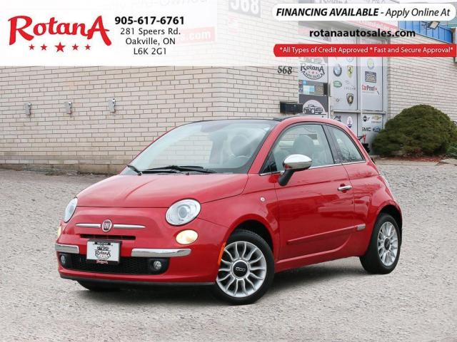 2013 Fiat 500 Lounge Convertible_Accident Free_PWR TOP_Low KMS