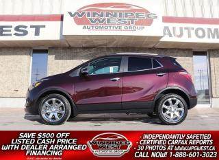 Used 2017 Buick Encore ESSENCE AWD LEATHER, ROOF, NAV, BLIND SPOT & MORE! for sale in Headingley, MB