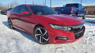 Used 2018 Honda Accord Sedan Sport, 1.5L Turbo, Active, Hail Sale for sale in Calgary, AB