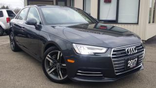 Used 2017 Audi A4 2.0T Technik quattro Sedan - NAV! BACK-UP CAM! BSM! ACCIDENT FREE! for sale in Kitchener, ON