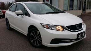 Used 2015 Honda Civic EX Sedan CVT - BACK-UP/BLIND-SPOT CAM! SUNROOF! HTD SEATS! for sale in Kitchener, ON