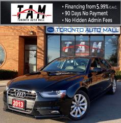 Used 2013 Audi A4 2.0T Premium Sedan quattro Bluetooth Leather Heated Seats Sunroof for sale in North York, ON