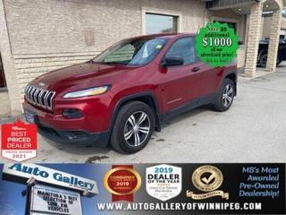 Used 2017 Jeep Cherokee Sport* 4X4/Bluetooth/Reverse Camera/REMOTE START for sale in Winnipeg, MB