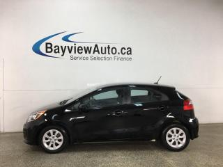 Used 2016 Kia Rio LX - 6SPD! BLUETOOTH! A/C! CRUISE! for sale in Belleville, ON