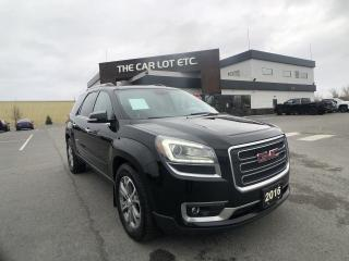 Used 2016 GMC Acadia SLT1 AWD - REMOTE START, HEATED LEATHER,DUAL SUNROOF,NAVIGATION,BLUETOOTH,BACKUP CAMERA, 3RD ROW for sale in Sudbury, ON