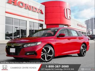 New 2020 Honda Accord Sport 1.5T APPLE CARPLAY™ & ANDROID AUTO™ | HONDA SENSING TECHNOLOGIES | HEATED SEATS for sale in Cambridge, ON