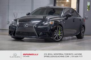 Used 2016 Lexus IS 300 F SPORT II AWD; CUIR TOIT GPS ANGLES MORT MAGS NAVIGATION - TOIT-OUVRANT - MONITEUR ANGLES MORT - CAMÉRA DE RECUL - MAGS 18'' for sale in Lachine, QC