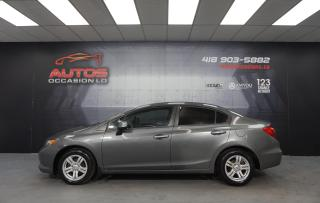 Used 2012 Honda Civic LX MANUEL FULL ÉQUIPÉ MAGS BLUETOOTH 151 981 KM !! for sale in Lévis, QC