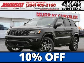 New 2021 Jeep Grand Cherokee 80th Anniversary *Heat/Vent Leather* *WIFI* *NAV* for sale in Brandon, MB