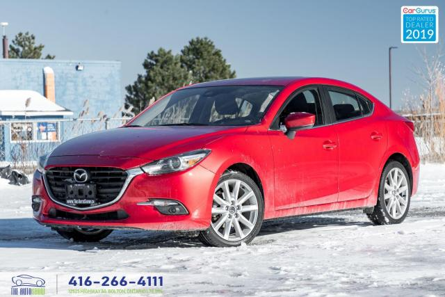 2018 Mazda MAZDA3 GT|Heated seats and steering|Sunroof|
